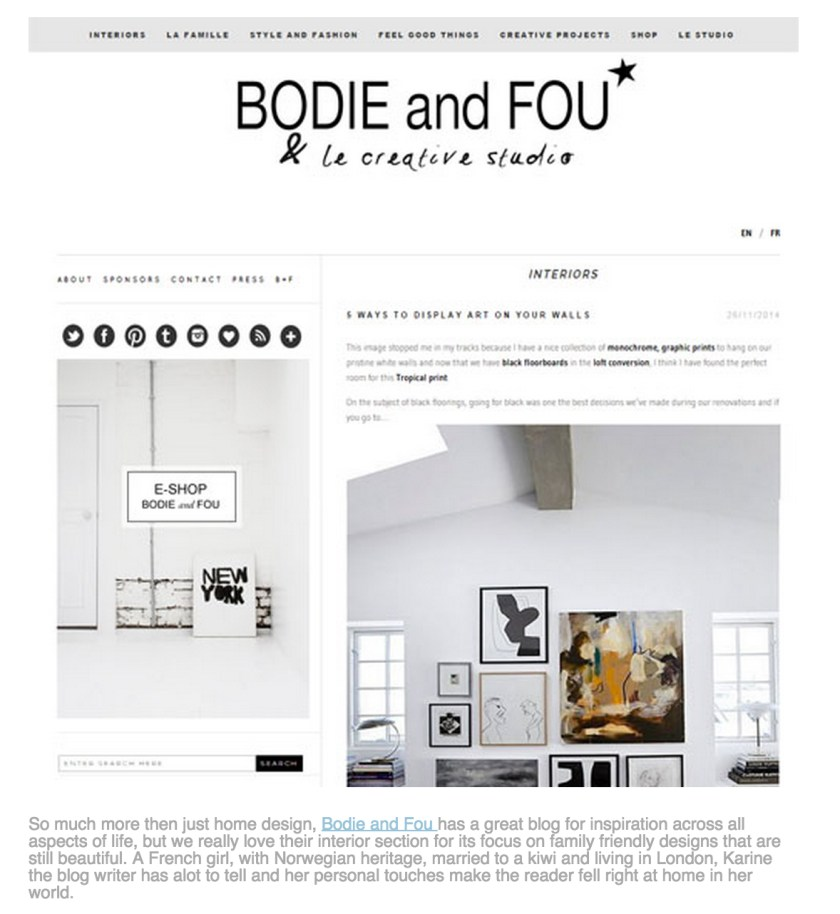 VOTED 5 BEST DESIGN BLOGS BY BARKERS