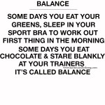 {WISE WORDS} BALANCE