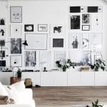 Inspiring monochrome gallery wall