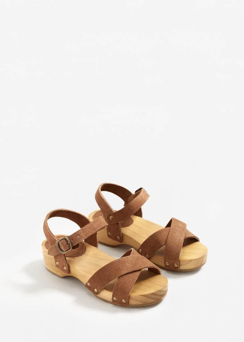 Children leather clogs