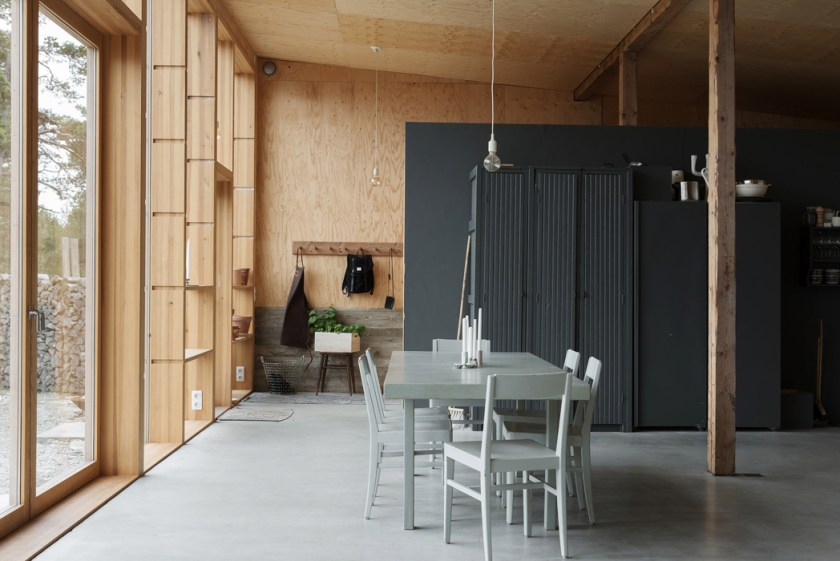 A garage converted into a Summer house