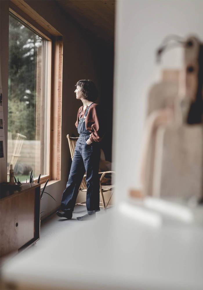 A Fashion Designer's wooden house