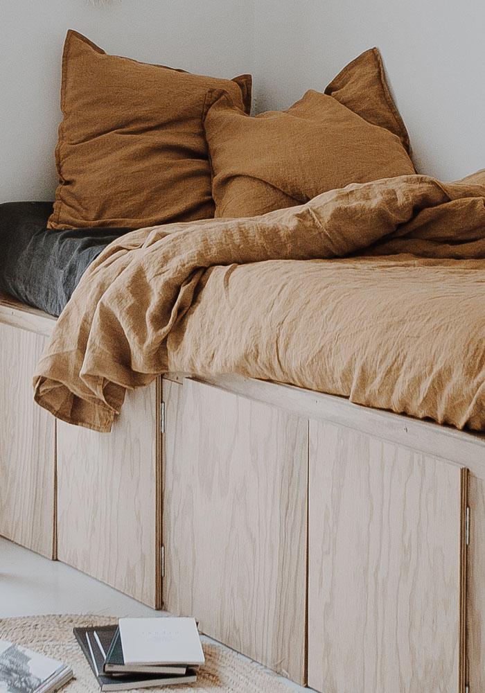 A bedroom makeover with plywood