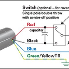 Reversing Split Phase Motor Wiring Diagram 7 Pin Plug Australia Application Notes Bodine Electric Company How To Connect A Switch 3 Or 4 Wire Psc Gearmotor