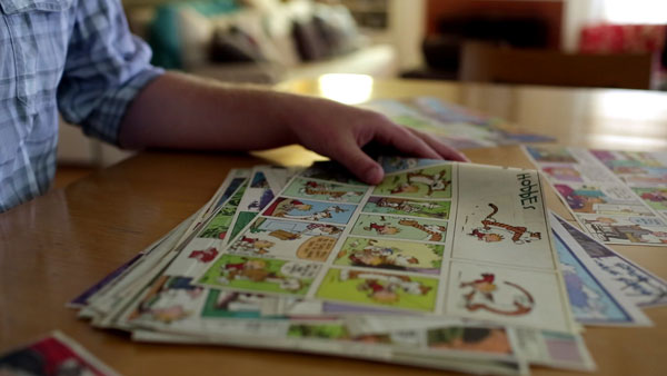 "Planche originale de ""Calvin et Hobbes"""