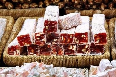 Sugar Coated Hazelnut Turkish Delight