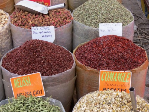 Spice Stall at Yalikavak Market Bodrum Peninsula Turkey