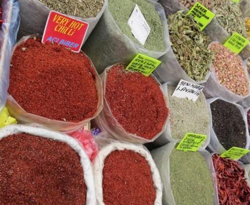 Spice Stall at Yalikavak Market Bodrum Peninsula Turkey