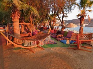 Bitez Beach chill area