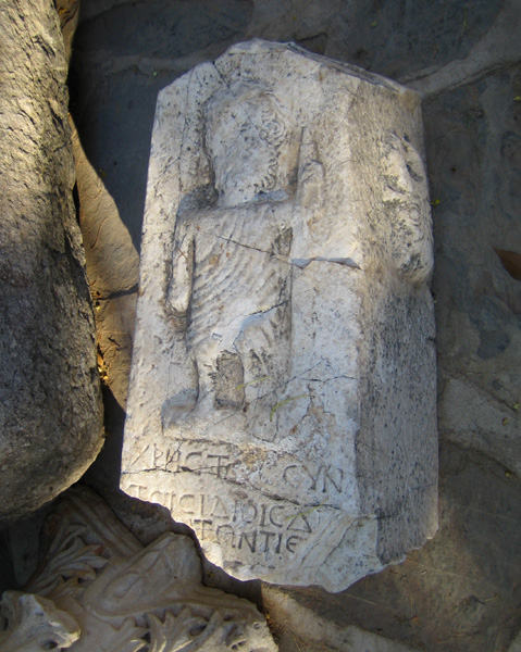 Another part left from the remains of Mausoleum of Halicarnassus in Bodrum