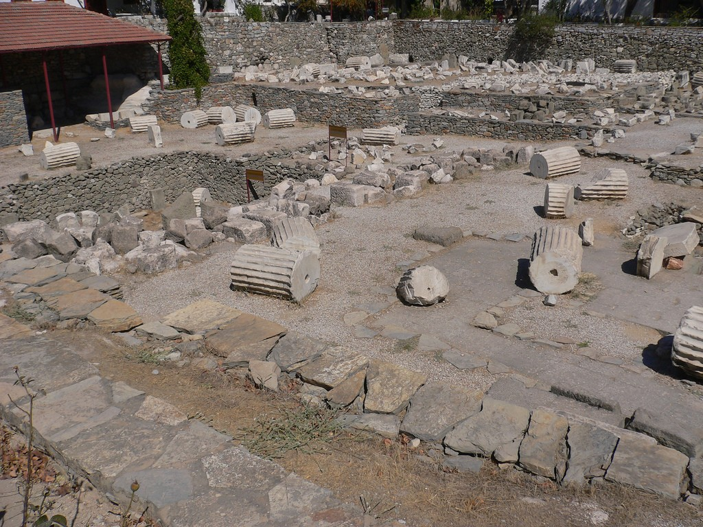 The Mausoleum of Halicarnassus in ruins, as it stands today