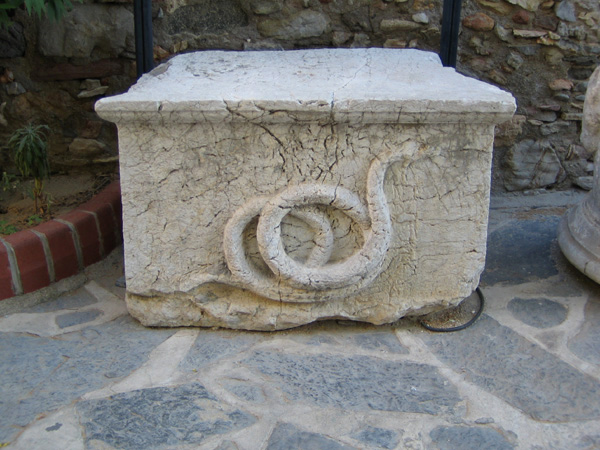 Snake altar from King Mausolus