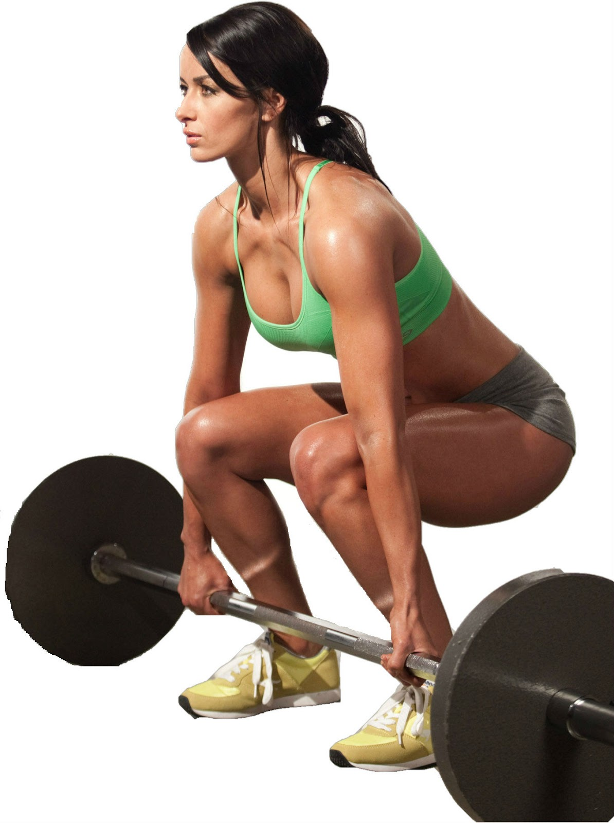 strong women lifting weights