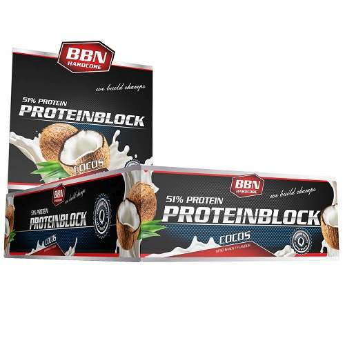 Hardcore Protein Block 15repen Coconut