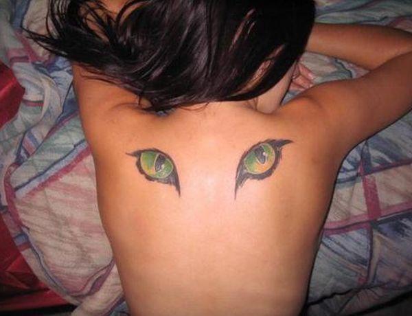 Cat eyes tattoo