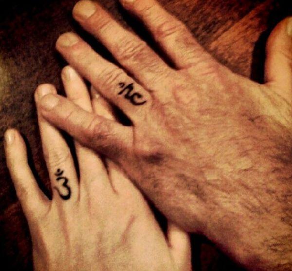 Religious Wedding tattoo