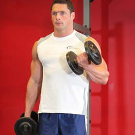 Mancuerna alternativo Curl de bíceps