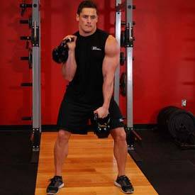 Double Kettlebell Alternating Hang Clean
