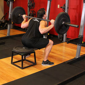 Barbell Squat To A Bench Exercise Videos Amp Guides
