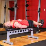 Flat Bench Lying Leg Raise