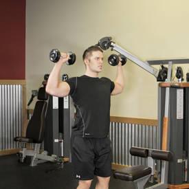 press de hombros el peso corporal