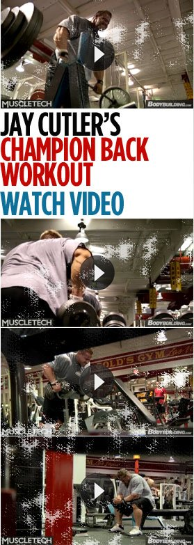 Jay Cutler Back Workout