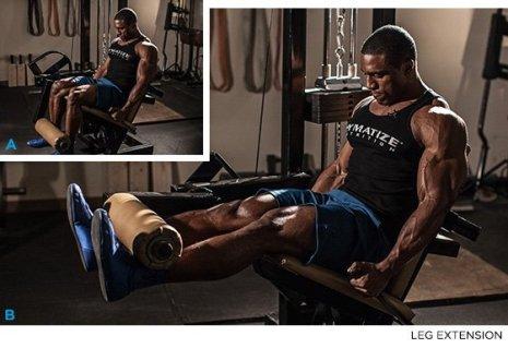 Resultado de imagen de training leg extension