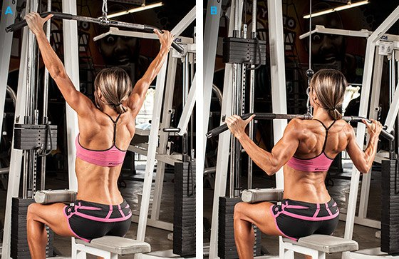 Image result for wide grip pulldown women