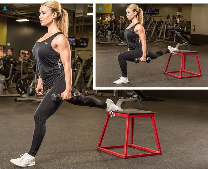 Knee-elevated split squat