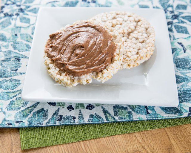 Rice cakes with whey icing