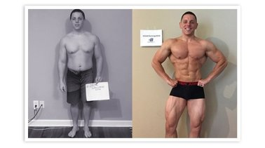 La mejor transformación de construcción muscular: Cory Dovel