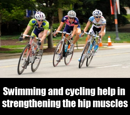 swimming and cycling.