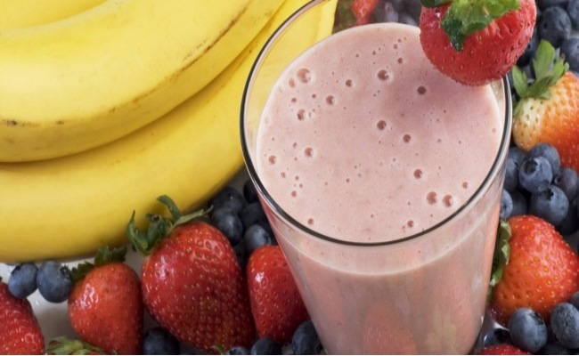 Fruit And Yoghurt Protein Shake