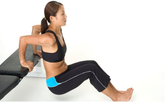 Tricep Dips Chair Exercise