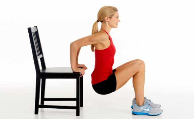 Chair Dips Workout