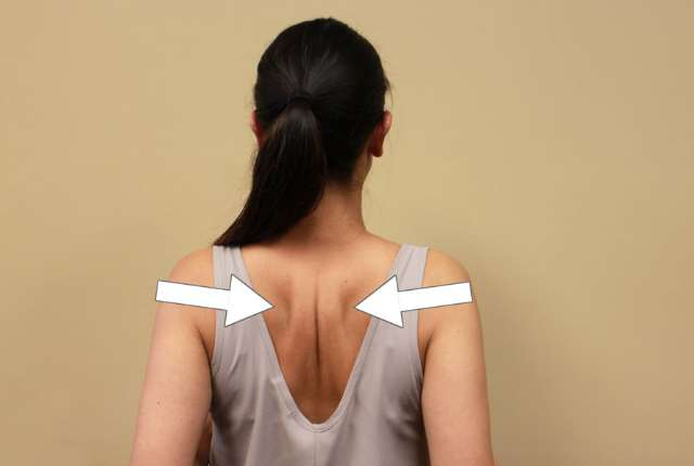 Squeezing Shoulder Blades