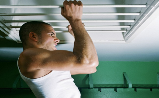 Squat Bar Pull-Up Exercise