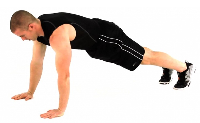 Push-Up Plank Jumps
