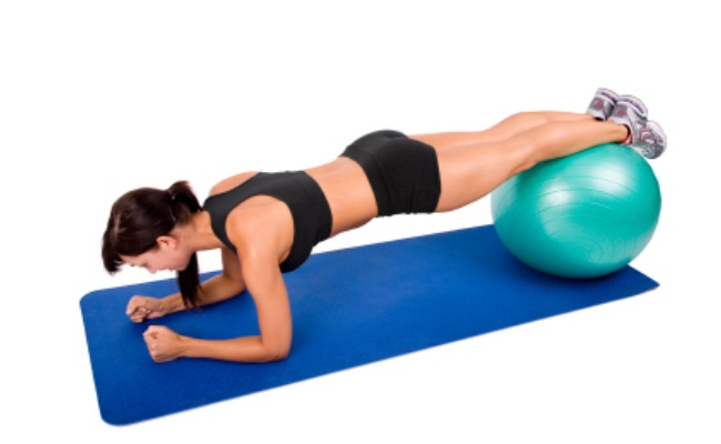 Plank Stability Exercises On Exercise Ball