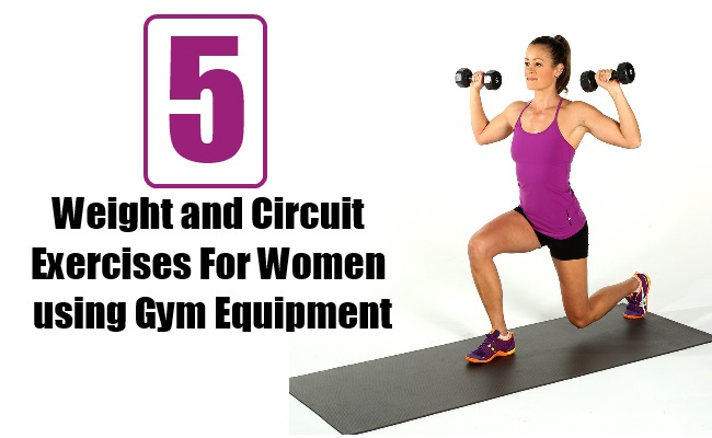 Weight and Circuit Exercises for Women using Gym Equipment