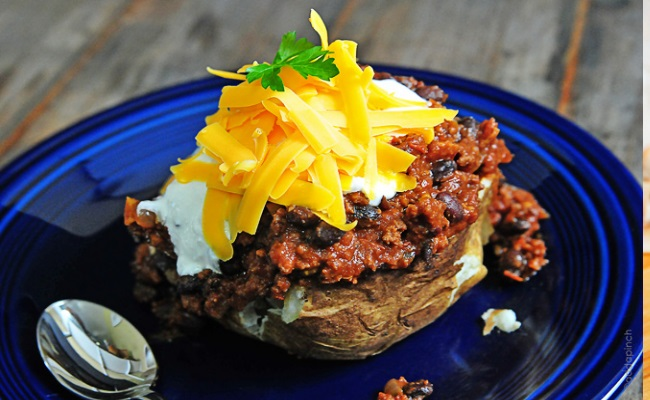 Baked Potatoes With Chilies