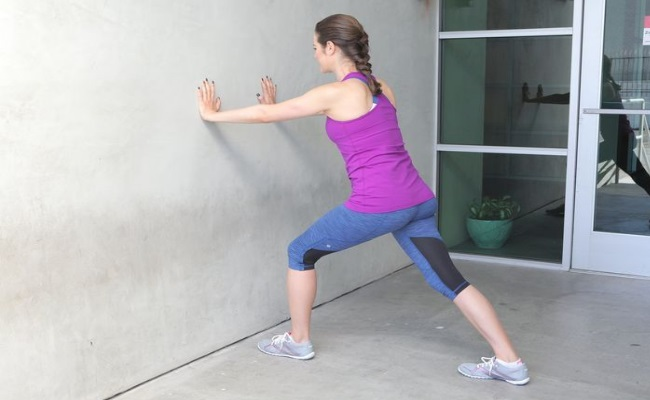Shoulder And Calf Stretch