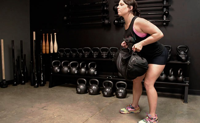 sandbag workout for women