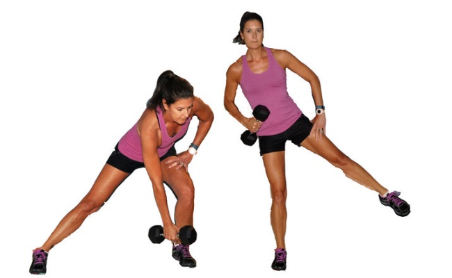 One Arm Row With Lunge