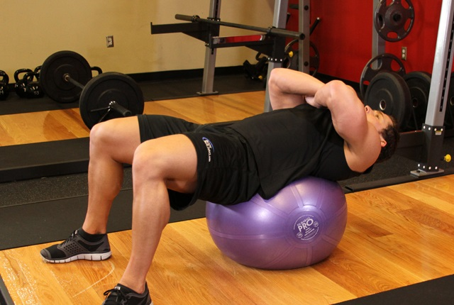 Exercise Ball Crunches