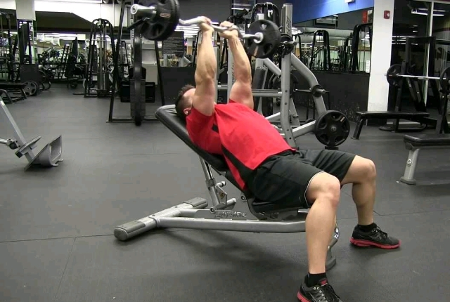 Incline Barbell Tricep Extension
