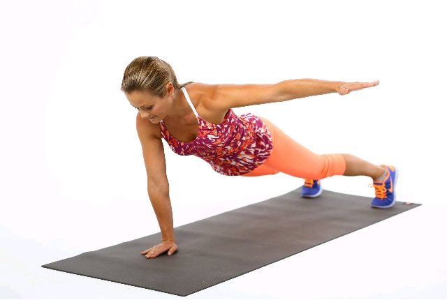 Planks with Arm Raise