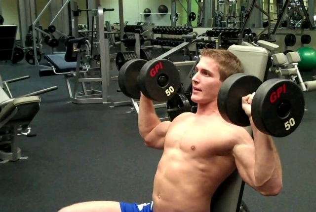 Seated Dumbbell Shoulder Press: