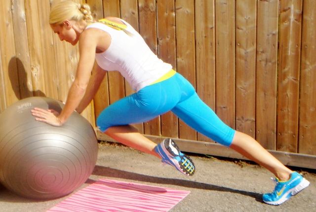 Knee Tucks With Stability Ball