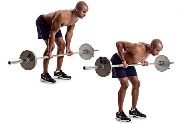 Bent-Over Underhand Barbell Row